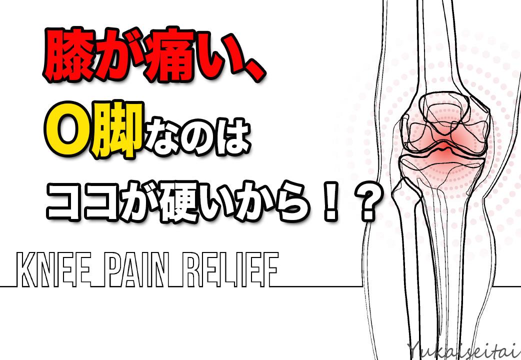 膝が痛い、O脚なのはココが硬いから!?